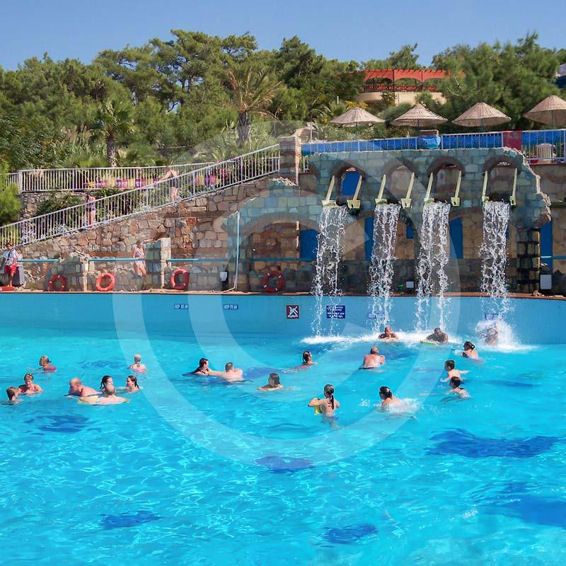 Aquapark Bodrum.Wycieczka fakultatywna z Bodrum do Aquapaku.