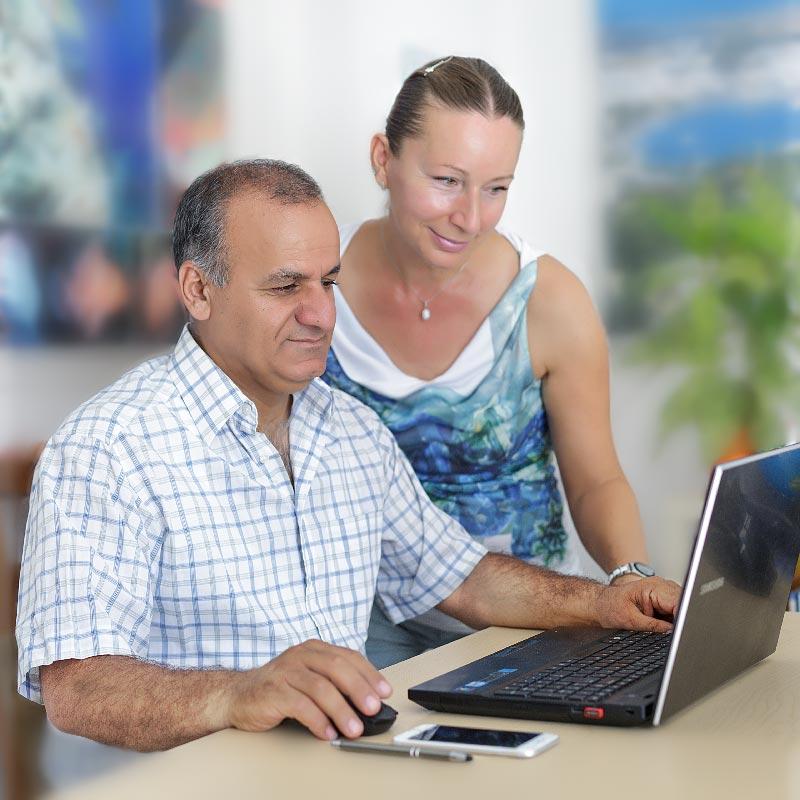 Dorota i Yusuf.KLS Voyages polskie biuro podróży Bodrum Turcja.