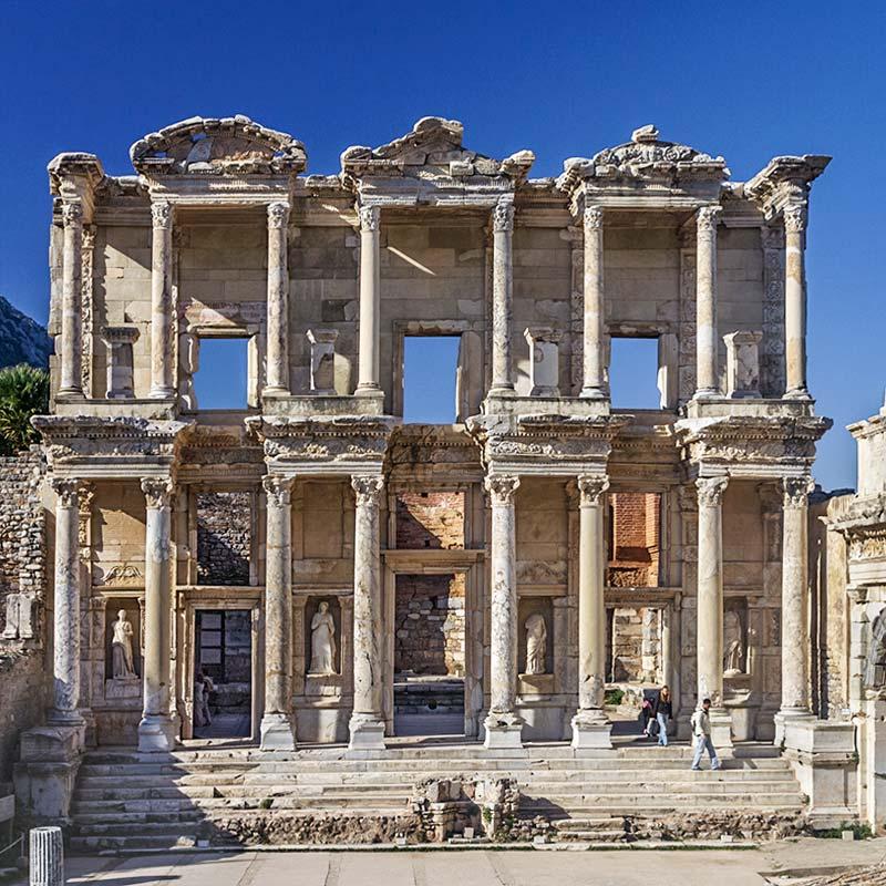 wycieczka efez z bodrum - wycieczki fakultatywne z bodrum - biblioteka Celsusa